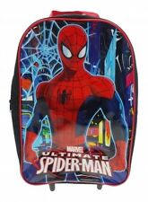Official Marvel Spiderman Boys Neon Wheeled Case Luggage Suitcase Travel Bag