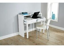 Regis Extending Console Desk Dresser Table With 2 Drawers - White
