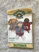 Cabbage Patch Kids Clothes Butterick 6511 Sewing Pattern UNcut