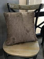 BIG SALE Handmade Super Soft Two sided Faux Fur Cushion Pillow Brown Luxurious