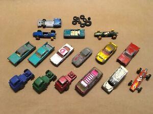 Lot of 16 + VINTAGE Diecast cars trucks Lesney + Parts LOT 12/15