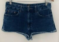 Lee Women's size 10 Blue Denim Shorts with Rolled Hem