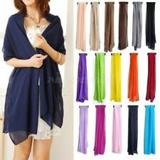 Unbranded Chiffon Patternless Scarf Scarves and Wraps for Women