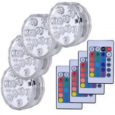 Hitopin Submersible LED Lights Remote Controlled Battery Operated Wireless 4 set