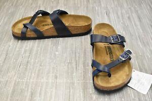 Birkenstock Mayari Sandal - Normal Width - W5/EUR 36 - Blue Waxy Leather