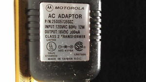 AC WALL ADAPTOR TRANSFORMER INPUT 120 VOLTS AC TO OUTPUT 16 VOLTS DC 300MA