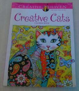 Creative Cats Adult Coloring Book 30 Original Designs Marjorie Sarnat Haven 2015