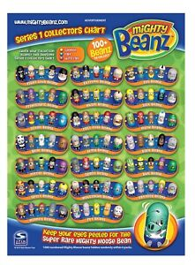 Moose MIGHTY BEANZ Series 1 2010. Choose Your Beanz to Complete Your Collection!