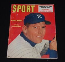 March 1957 SPORT Magazine Mickey Mantle NY Yankees No Mailing Label