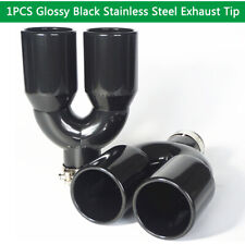 "Glossy Stainless Steel Exhaust Tip Pipe Dual Wall Round 2.5"" Inlet 3.5"" Outlet"