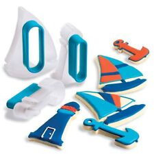 Cuisipro Cookie Cutter Set Nautical Shape Design 3 Piece Snap Fit Storage New