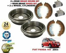 REAR BRAKE DRUMS SHOES + 2x CYLINDERS for FIAT PANDA 169 1.1 1.2 1.3D 1.4 2003->
