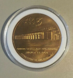 Department of the Treasury United States Mint Philadelphia Coin August 14 1969.