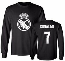 Real Madrid Shirt Cristiano Ronaldo #7 Soccer Jersey Shirt Long Sleeve T-Shirt
