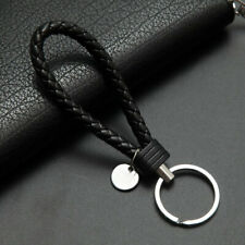 Handmade Woven Key chains Leather Key Chain Ring Holder for Car Keyrings