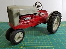 "1950 HUBLEY Kiddie Toy 1/10 RED Diecast Farm Tractor 11.75"" USA"