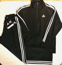 NWT ORIG $183.98! ADIDAS 2 PC Black White Warm Up Suit by GK Size Small