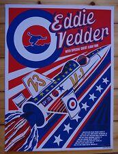EDDIE VEDDER - Evel Rocket 2009 USA Tour Poster BRAD KLAUSEN S/N *RAR* Pearl Jam