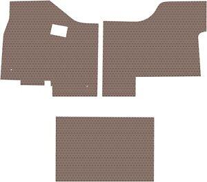Kenworth T680/880 Tan 3PC Custom Fit All-Weather Rubber Floor Mats Lloyd's  NEW