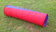 FLEXA KIDS/CHILDREN/PET POP UP PLAY TUNNEL RED/BLUE -VERY NICE- NIB!