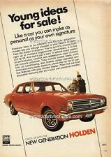 1968 HOLDEN HK KINGSWOOD SEDAN A3 POSTER AD ADVERT ADVERTISEMENT SALES BROCHURE