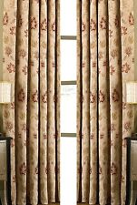 PAIR 66 x 84 drop (168x214cm) HEAVY WEIGHT TAPESTRY CURTAINS PERIOD STYLE