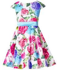 Mädchen Kleid Party Festlich Einschulung Hochzeit Blumenmädchen Sommerkleid Rosa