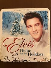 Elvis Presley Home For The Holidays Collector's Tin Postcards Guitar Candle Cd