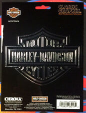 HARLEY DAVIDSON BAR & SHIELD LOGO WINDOW BUMPER DECAL STICKER SET chroma #3017