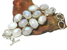 MOONSTONE  Sterling Silver  925  Gemstone  Bracelet  -  Gift  Boxed