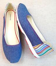 LANDS' END Slipper Schuhe Gr. 6,5 ca. 39 Ballerinas Jeans bunt NEU !!!