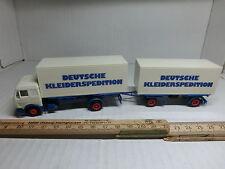 1:87 Herpa MB Container LKW mit Hänger Deutsche Kleiderspedition (P10/16)