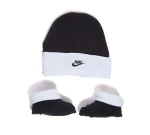 Crib Nike Hat and Bootie Set Black/White (SF1) RRP £9.99