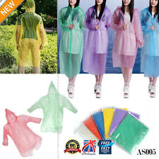1 x Disposable Adult Emergency Waterproof Rain Coat PONCHO Hiking Camping AS005