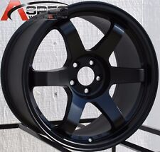 17X9.0 ROTA GRID WHEELS 5X100 RIMS 42MM FLAT BLACK (SET OF 4 )