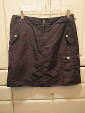 Ralph Lauren Womens Golf Skort Skirt Shorts Size 8 Black Pockets Nice