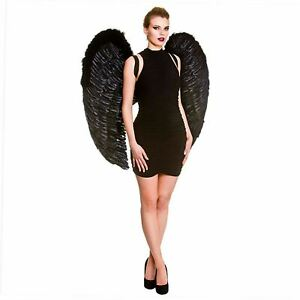 Giant Wings White or Black Good or Bad Fairy 95 x 95cm Fancy Dress Accessory
