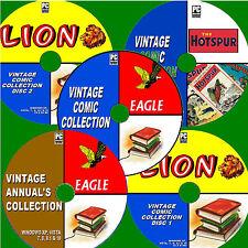 1000+ CLASSIC COMICS / ANNUALS LION EAGLE HOTSPUR 30s-80s EDITIONS NEW 5 PC-DVDs