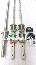 HGR20-400mm Hiwin Liner rail & HGW20CC &DFU1605-400mm Ballscrew&BF12/BK12 Kit