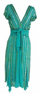 Vintage inspired GERRY SHAW embellished Special Occasion Dress – Size 10