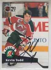 Autographed 91/92 Pro Set Kevin Todd - Devils