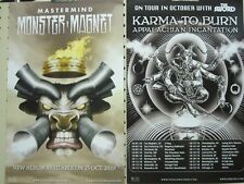 MONSTER MAGNET 2010 mastermind tour 2 sided promotional poster Flawless