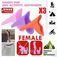 3PCS Reusable Silicone Portable Urinal Women Female Travel Camping Travel Toilet