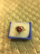 Lovely 14k GF Ruby  Ring, size 18