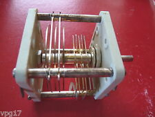 10pF - 31pF EDDYSTONE WIDE SPACE TWIN GANG SILVER PLATED  TUNING CAPACITOR NEW