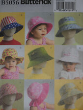 Infant Toddler Hats Bucket Sun Hats size XS-XL Butterick 5056 Sewing Pattern