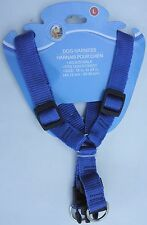 DOG NYLON STRAP HARNESSES - SMALLER DOGS Adjustable SELECT: Harness Size &Color