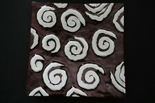 Murano Italian Art Glass Plate - GIANT SIZE - TRANSLUCENT RED with WHITE SPIRALS