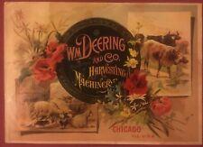 Wm. DEERING & CO. HARVESTING MACHINERY Rare Original 1887 Catalog Cover