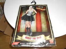 Smiffys Skelly Von Trap Costume - Female - Black - UK Dress 8-10 With NETTING